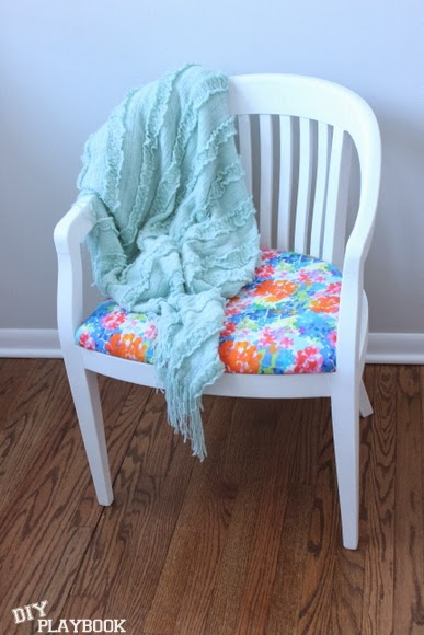 Play with color: Reupholstered Chair DIY using Milk Paint | DIY Playbook