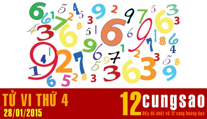 Tử vi Thứ Tư 28/1/2015 - 11 Thần Số hàng ngày