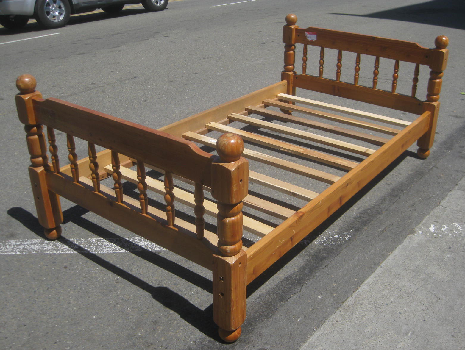 Uhuru furniture collectibles sold twin bed frame 35 for Twin mattress and frame