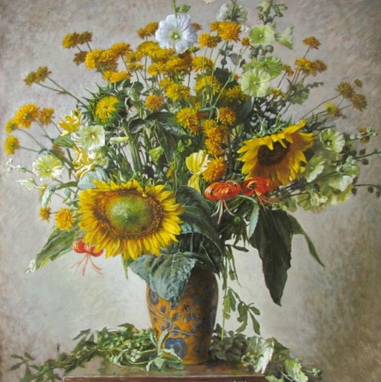 Im genes arte pinturas jarrones de flores cuadros decorativos - Jarrones decorativos para jardin ...