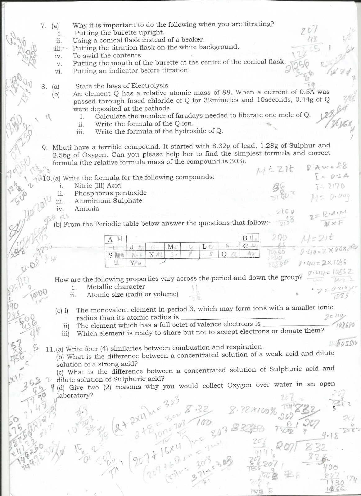 chemistry form 4 essay chapter 5 Questions 4-7 are short free-response questions that require about 7 minutes each to answer and are worth 4 points each write your response in the space provided following each question.