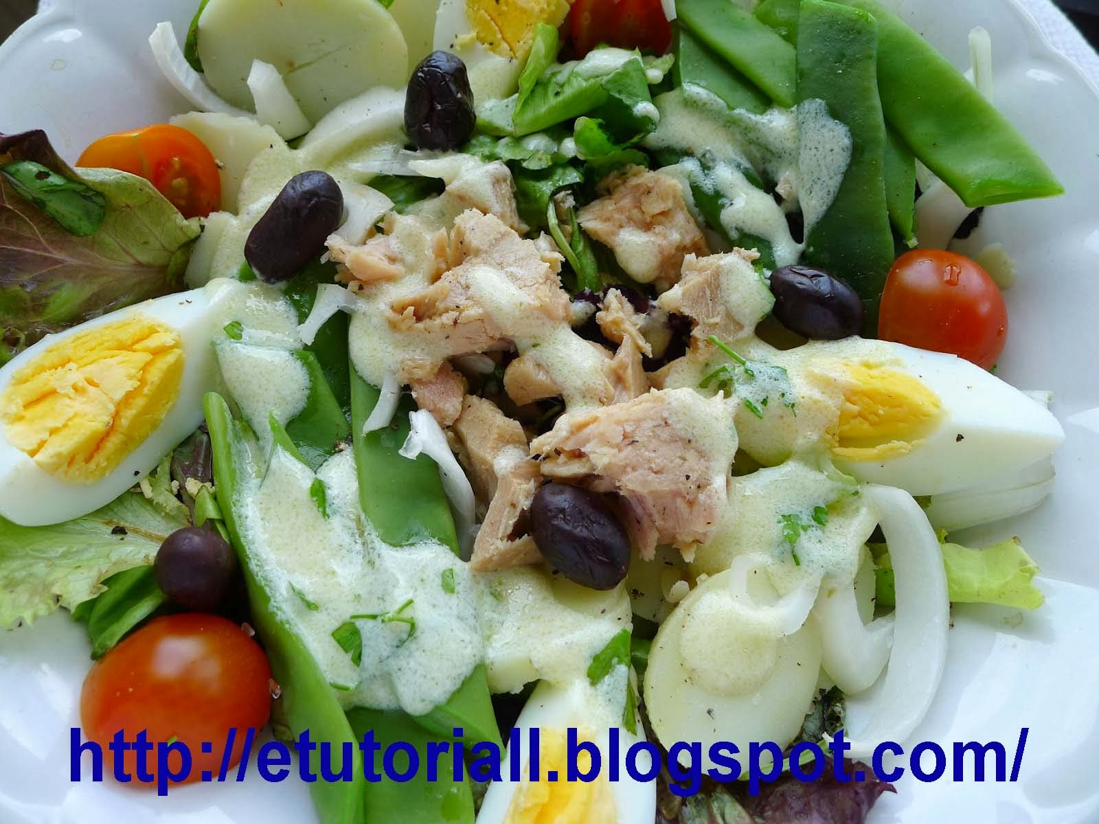 Resep Garden Salad With Vinegarette Dressing