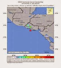 SISMO 5,9 GRADOS EN EL SALVADOR, 13 de Diciembre 2013