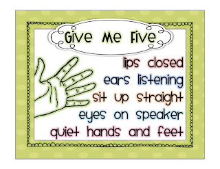 Printable Give Me Five Poster