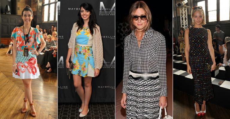 Estampas dominam o visual das it girls na New York Fashion Week