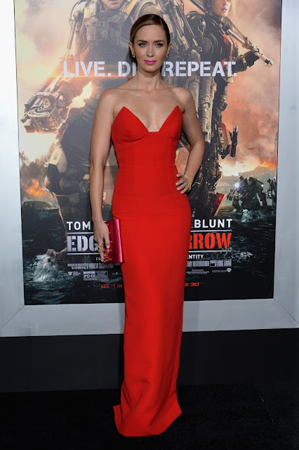Emily Blunt in Prada for the 'Edge Of Tomorrow' New York Premiere