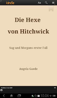 Form eines Buchs. Der Titel. Die Hexe von Hitchwick