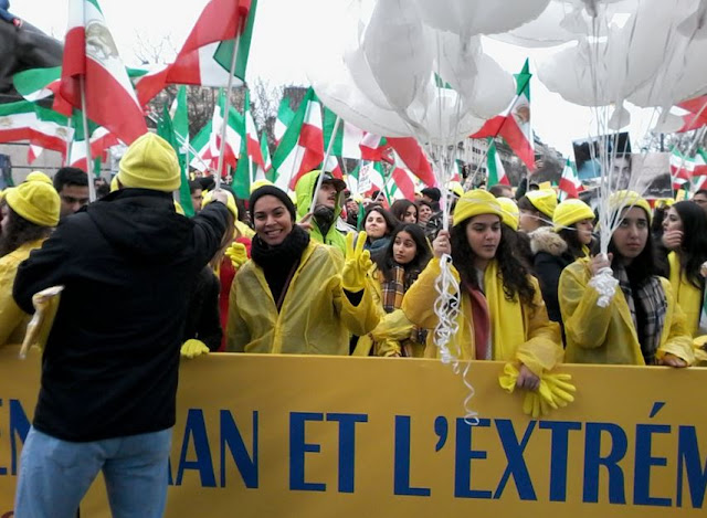 Iran-,Paris,Rally of no to Rouhani28 January 2016