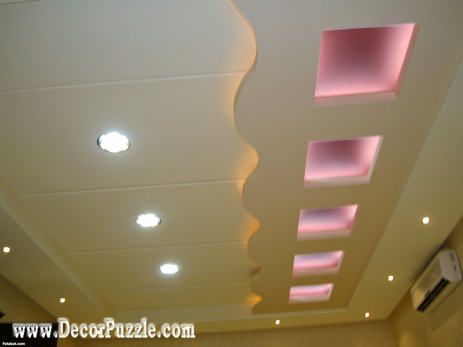 Latest 20 pop false ceiling design catalogog with led 2018 for Room design pop