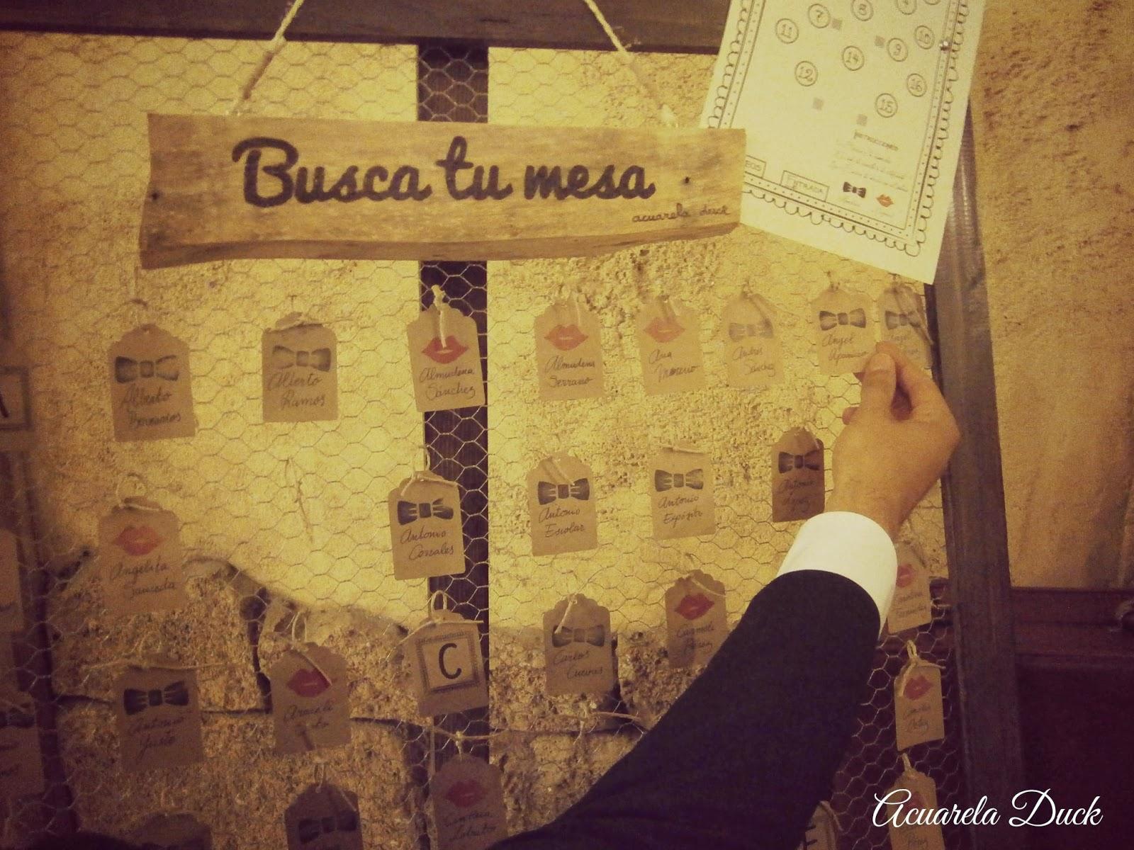 etiquetas seating boda