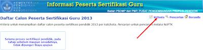 Calon Peserta Sertifikasi 2013