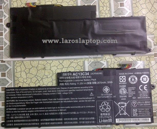 Harga Baterai Laptop acer aspire V5-123