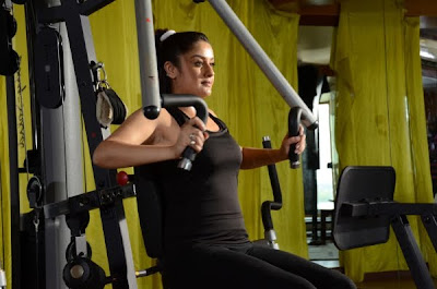 Sonia Agarwal hot gym stills