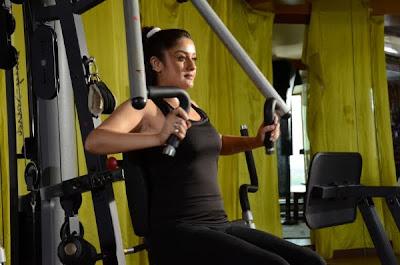 Sonia Agarwal hot gym stills