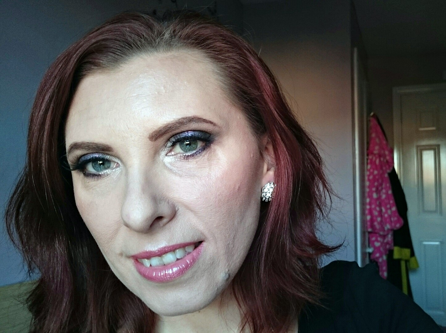 holiday festive makeup look 3 purple smokey eyes mummy