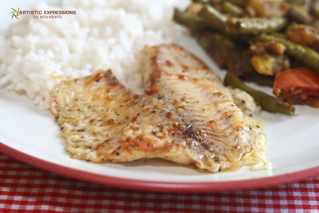 ... by Elisabeth: Parmesan Crusted Tilapia and Coconut Rice {Recipe