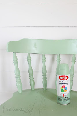 Thrifty and chic diy projects and home decor for Mint green furniture paint