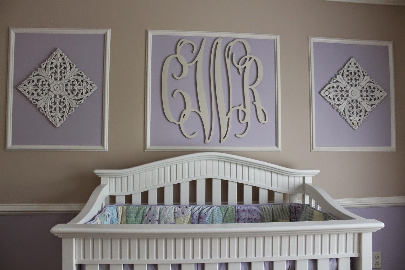 Baby Monogram Wall Decor David Jen Max Colettes Nursery