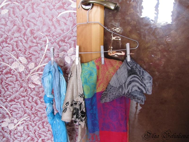 Вешалки для шарфов и платков своими руками 80