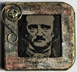 Edgar Allan Poe Altered Board Book by Chris Stern CS Designs