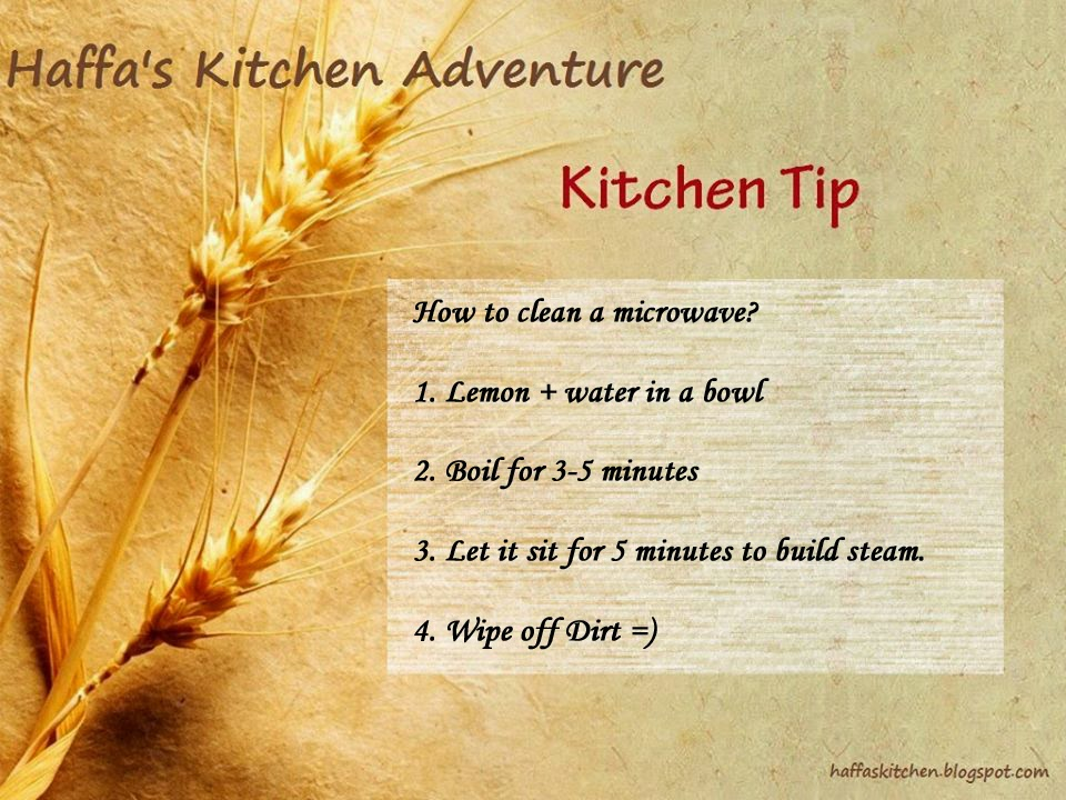 How to clean a microwave| Kitchen tips