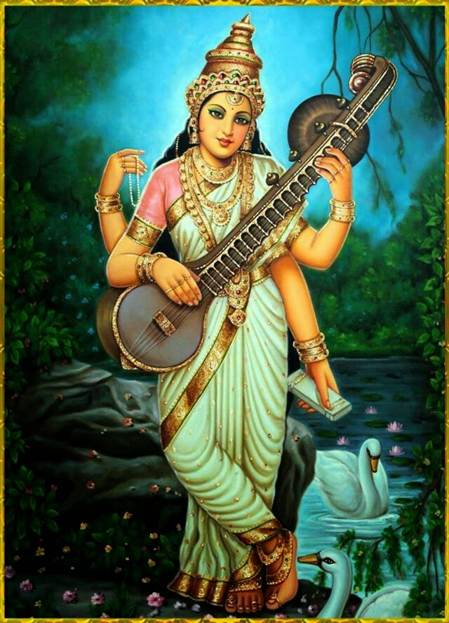 Goddess Saraswati Is The Hindu Of Learning And