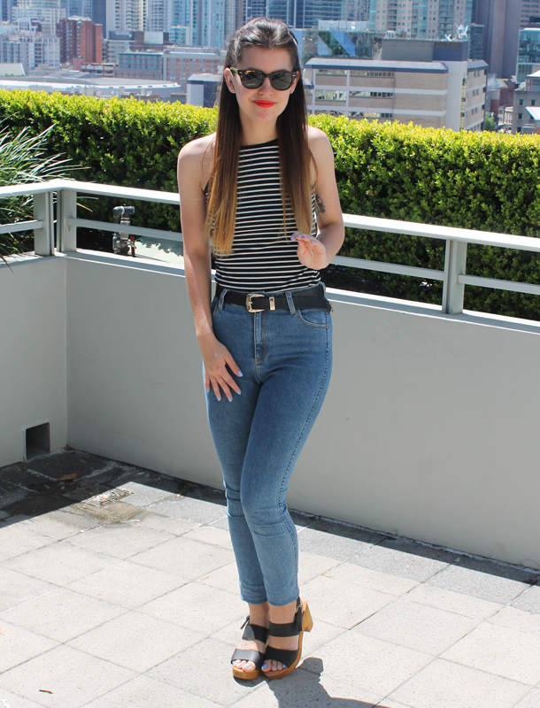 Sweet Monday, Outfit, Ray-Ban Meteor, Sunglasses Shop