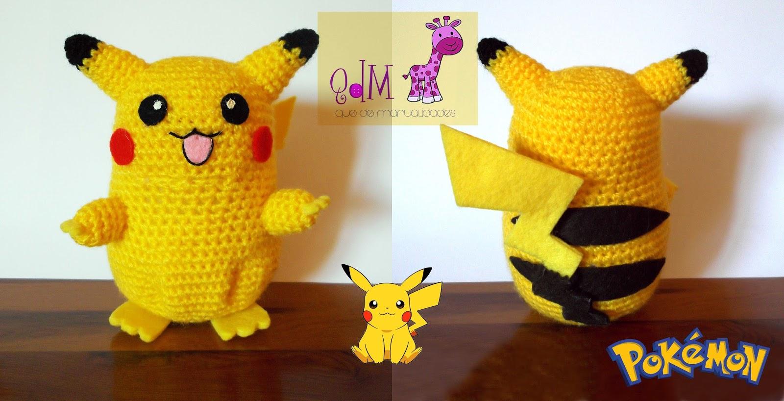 Pikachu En Amigurumi : Pikachu amigurumi Que de manualidades