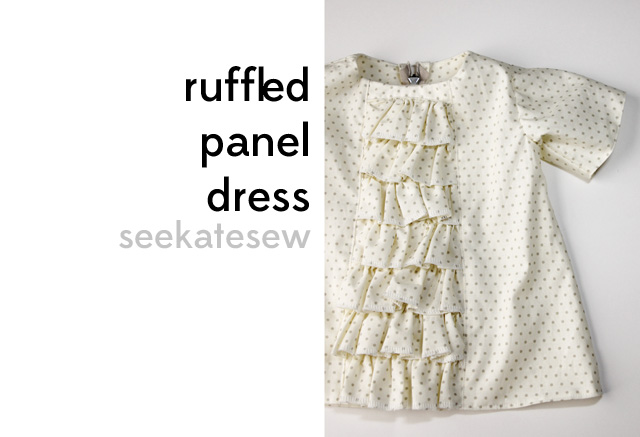 how to make a ruffled panel dress