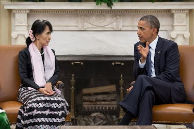 Aung San Suu Kyi and barrack obama