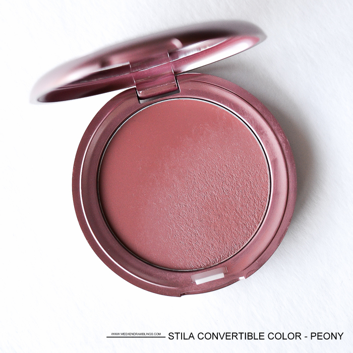 Stila Convertible Color - Peony - Cream Lip-Cheek Blush - Review Swatches