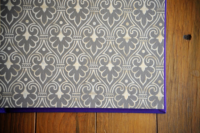 indigo album design | decortive paper lining