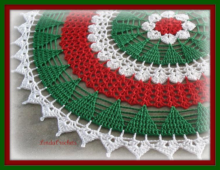 Linda Crochets Christmas Tree Doily