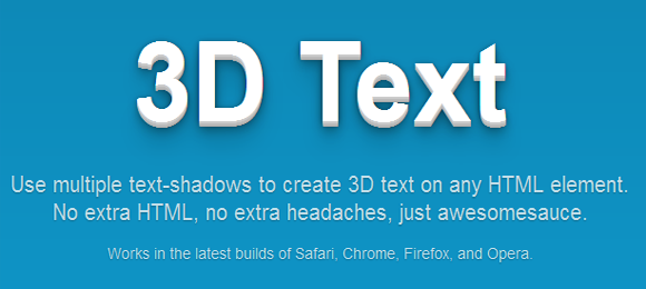 Create 3D Text With CSS3