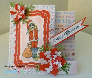 Santa's little help Digistamps4Joy digistamp