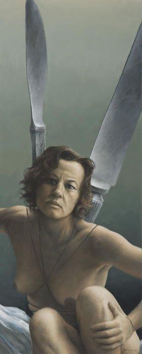 james guppy pinturas bizarras seres nus genitálias estranhas