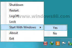 Hotshut ile windows 8 kapatma