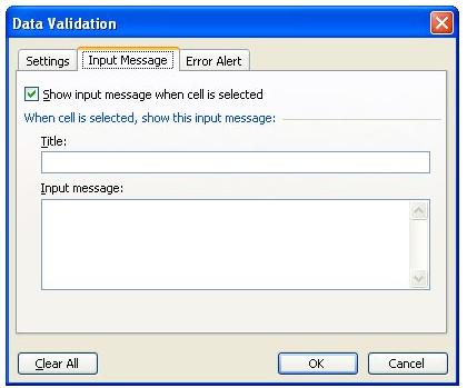 Mengatur Validasi Data Excel Dengan Pesan Input