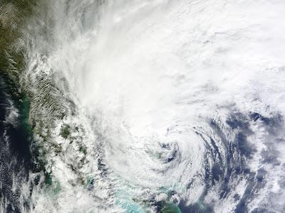 foto satelite del huracan sandy