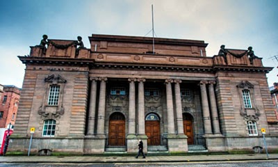 The derelict Perth City Hall