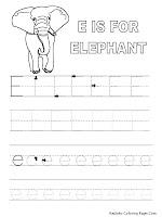 Alphabet Tracer Pages E Elephant