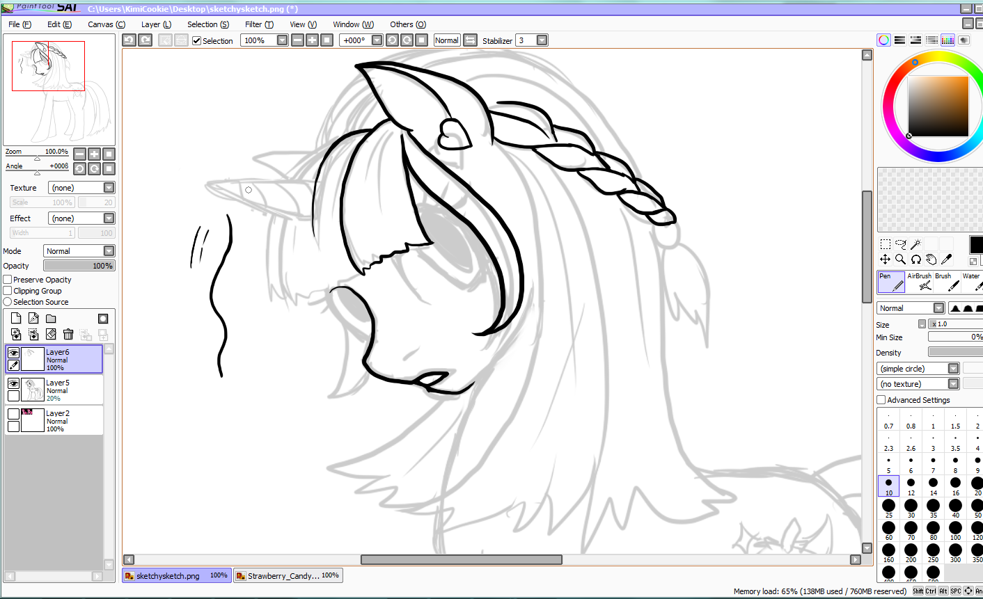Artwork by KimiCookie: Paint Tool Sai tutorial, My little Pony edition ...