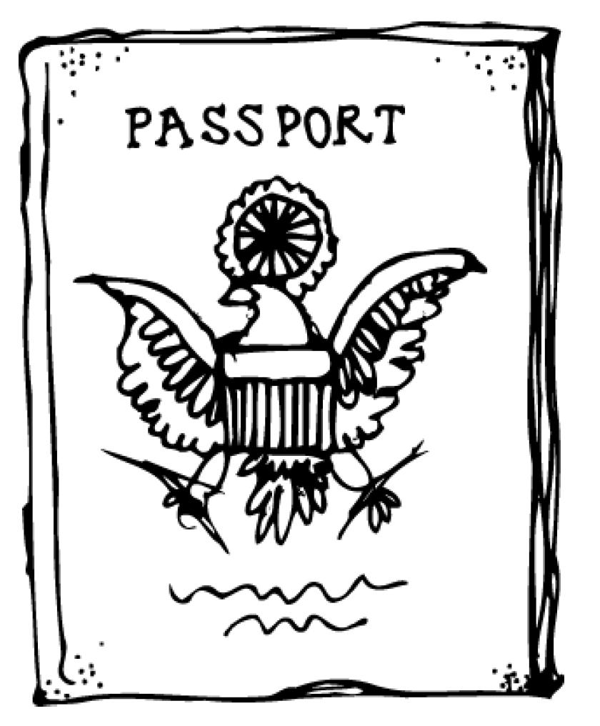 Passport Coloring Page Cake Ideas And Designs Passport Coloring Page