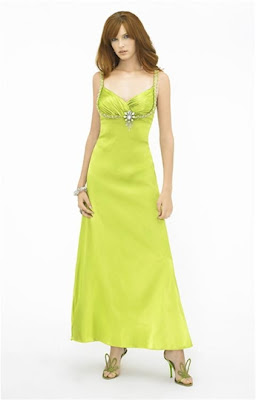 Lime Long Dresses