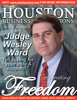 JUDGE WESLEY WARD IS ASKING FOR YOUR VOTE ON ELECTION DAY