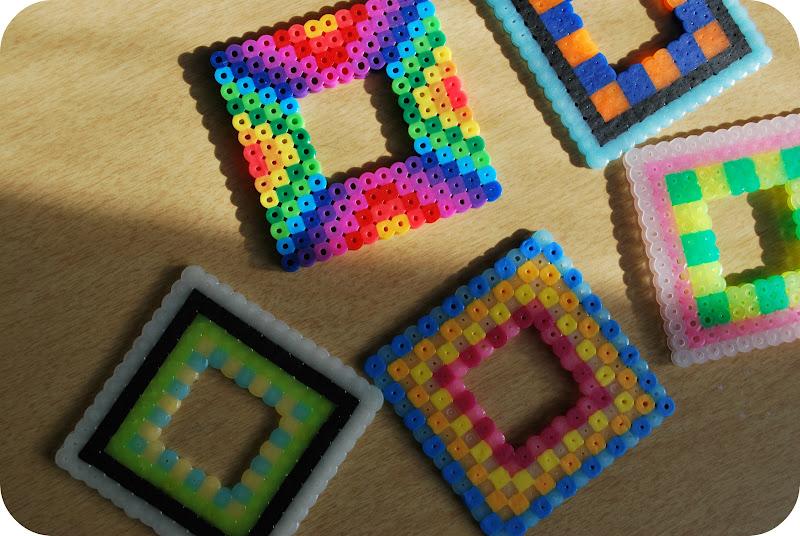 Perler bead squares