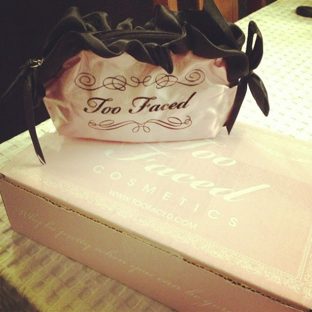 makeup, make up, too faced, pink make up bag, pretty make up packaging, pink packaging, beautiful make up