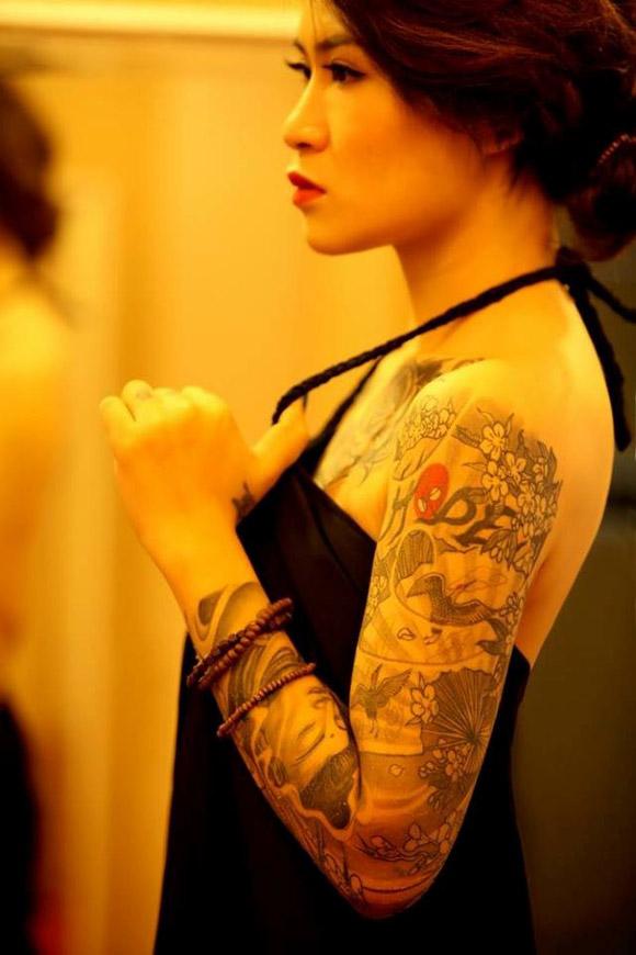 Hình xăm cánh tay đẹp của nữ giới
