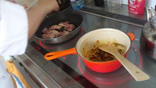 ご自宅で料理:タイ風ソース調理中