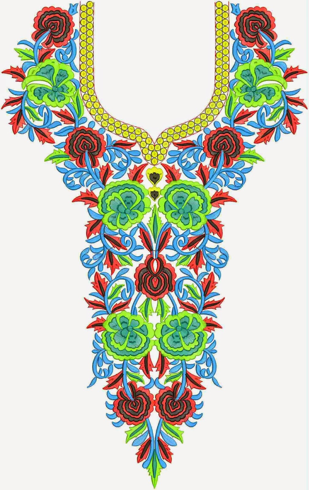 Embdesigntube Buy Online Neck Embroidery Designs